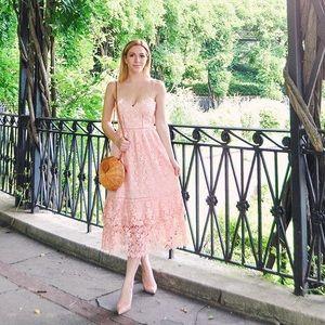 Club Monaco Pink Lace Dress